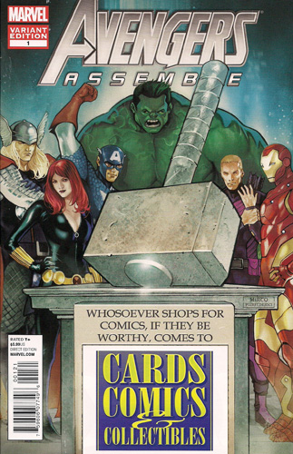 avengers assemble 1 exclusive cards comics collectibles