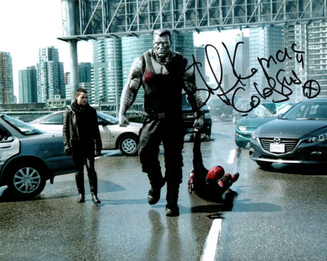 Stefan Kapicic SIGNED photo: Colossus dragging Deadpool