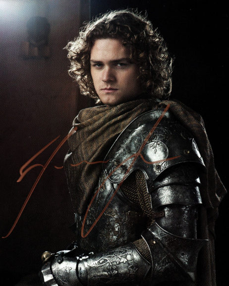 Finn Jones SIGNED photo: Game of Thrones Loras Tyrell (in armor)