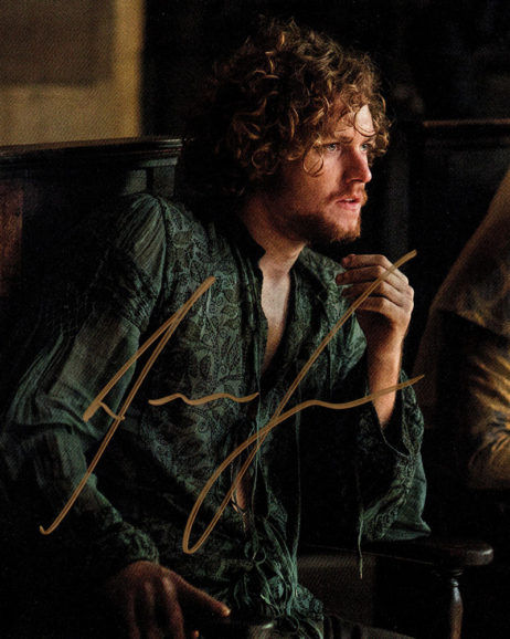 Finn Jones SIGNED photo: Game of Thrones Loras Tyrell (sitting)