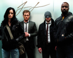 Finn Jones SIGNED photo: Iron Fist Defenders in an elevator