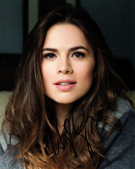 Hayley Atwell SIGNED photo: Headshot