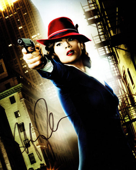 Hayley Atwell SIGNED photo: Agent Carter with a gun