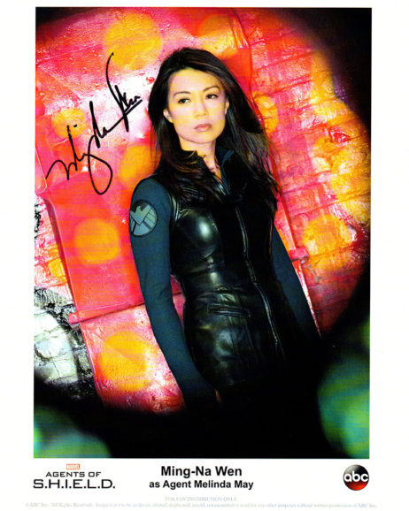 Ming-Na Wen SIGNED photo: Agents of SHIELD white framed ABC