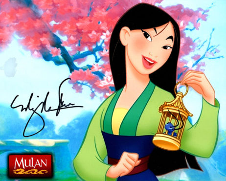 Ming-Na Wen SIGNED photo: Mulan with cricket