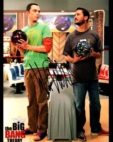 Wil Wheaton SIGNED photo: Bang Theory bowling with Sheldon